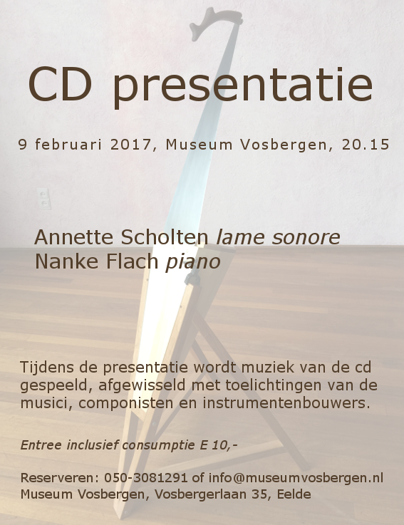 flyer cd-presentatie Vosbergen